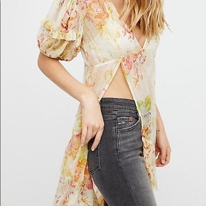 Free People Floral Printed tunic